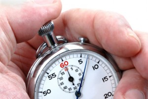 Stopwatch in a hand