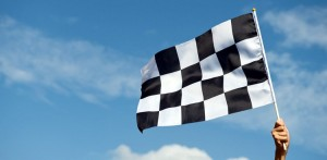race flag finishing line