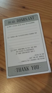 Dear Dominant Notepad