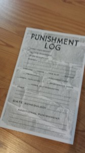 Punishment Log Notepad