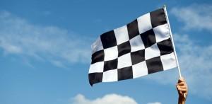 race flag finishing line
