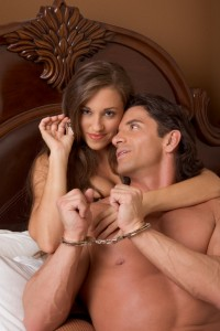 couple with man in handcuffs